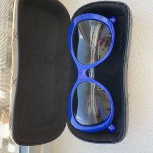 Authentic bright blue Channel Sunglasses